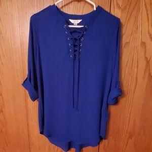 Decree royal blue tunic size Medium